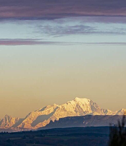 Vue chaîne des Alpes