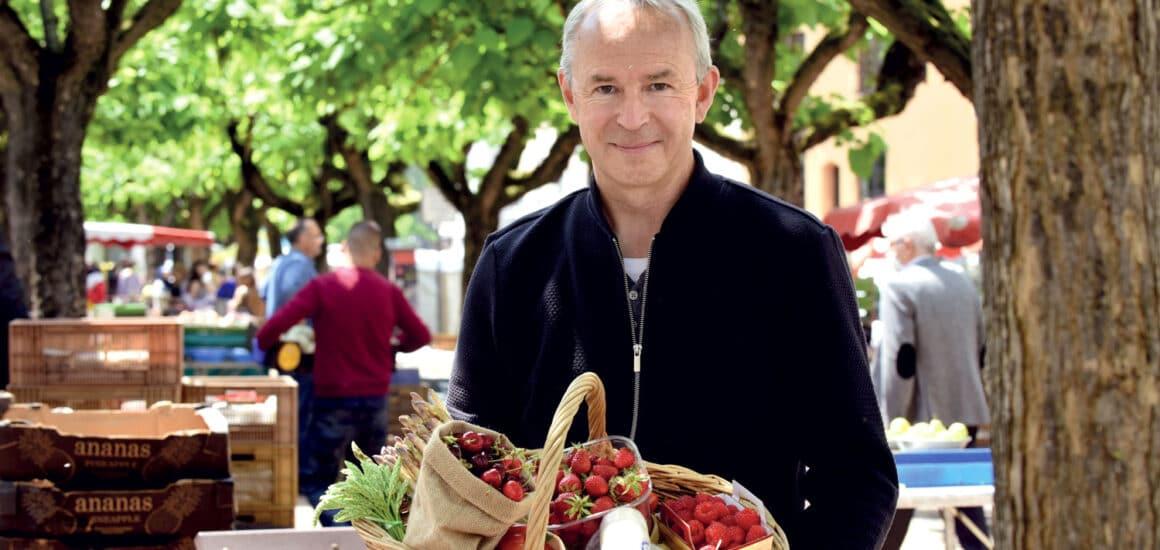 Le chef Philippe Girardon au marché de Vienne
